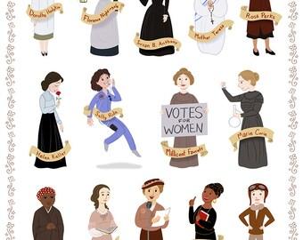 Women in History I, 8x10