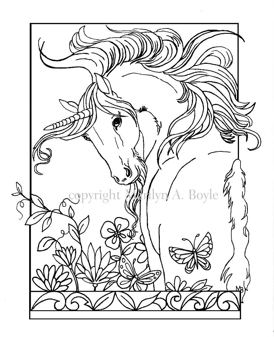 coloring book five pages on 140 lb watercolor paper fantasy