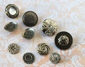 Silver Buttons Mixed Lot of 10 Shank Back and Four hole Buttons