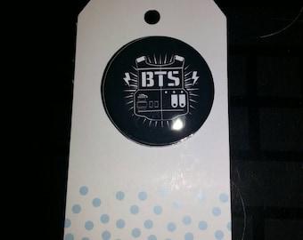 BTS KPOP Bulletproof Vest Logo 1 Inch Pinback Button