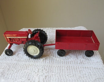 Red Ertl Tractor with Trailer