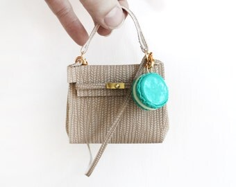 Miniature Hermes Kelly bag charm
