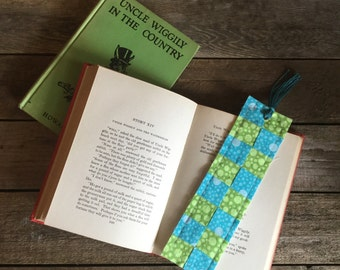 Quilt Block Bookmark, block-pattern