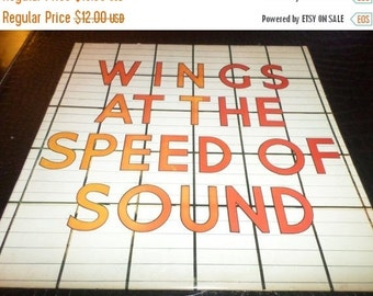 Save 30% Today Vintage LP Record Wings At The Speed of Sound Paul McCartney Capitol Records SW11525 Near Mint Condition 676