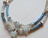 ON SALE chrysocolla necklace, aquamarine necklace, labradorite necklace, blue necklace, boho chic necklace, bohemian necklace, boho chic