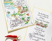 Wedding Map/ Custom Map
