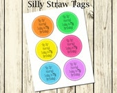 Sip Sip Hooray! Printable Silly Straw Tag