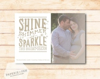 Shine Shimmer Sparkle // Holiday Photo Card
