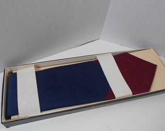 NOS Sears Boxed Navy & Red Tie