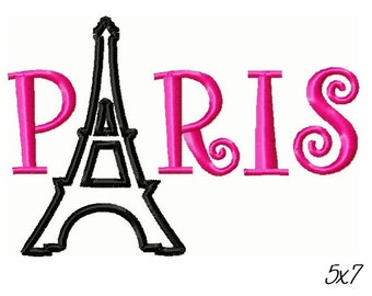 Paris Eiffel Tower Embroidery Design -INSTANT DOWNLOAD-