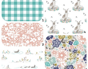 crib bedding cottontail bunny floral