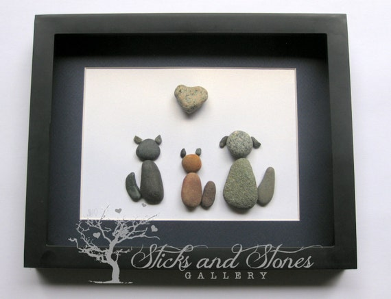 Animal Lover Gifts Rescue Animals Animal Themed Pebble Art