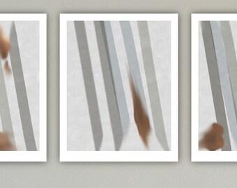 Abstract Art Print Set, Large Print, Minimalist Art, Geometric Art, Contemporary Art, Abstract Decor, Triptych print set