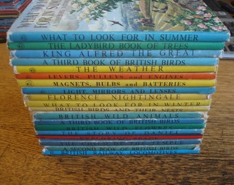 Set of 19 Mixed Series Ladybird Books with Dust Jackets