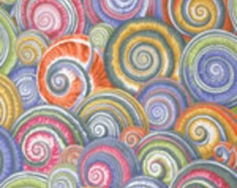 Kaffe Fassett Collective Spiral Shells Grey - 1/2yd