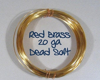 20ga 100ft DS Red Brass Wire