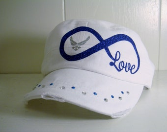 Air force military cadet cap for women- Infinity love Air force