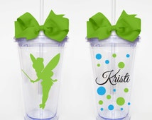 Tinkerbelle, Disney - Acrylic Tumbler Personalized Cup