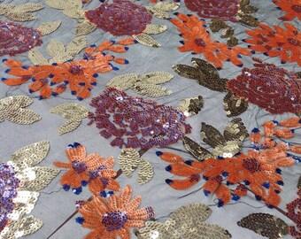 Sequin Dress Fabric, Sequin dresses, Floral sequin Fabric,Sequin Lace Fabric, Floral Fabric