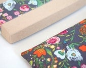 Floral Lavender Eye Pillow in the Gift Box - Heating pad - Mothers day - Relaxation, Cotton Eye Pillow, Gift for mom, Cold pack, Eye pillow