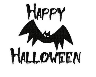 Embroidery Design Happy Halloween 3 - DIGITAL DOWNLOAD PRODUCT
