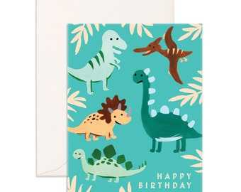 Birthday Dinos Greeting Card