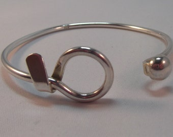 Heavy Silver Loop Bangle