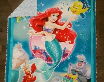 The Little Mermaid Minky Blanket
