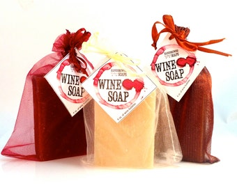 6 Wine Soap: Choose from Merlot Wine Soap, Pinot Grigio Wine Soap & Pinot Noir Wine Soap (Set of 6)- Wedding Bridesmaid Favors, Bachelorette