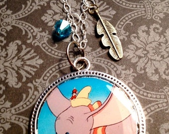 Sale 20% off Dumbo The Flying Elephant Inspired Necklace