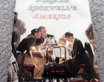 Now marked 20% 0ff.  Norman Rockwell's America, art reference book. 639 illustrations, 129 full color, 312 pge