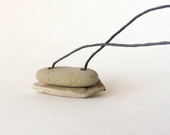 "Stone Necklace. ""Shape Contrast"""