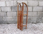 Vintage Wooden Sledge Davos Snow Christmas or Window Display
