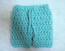 MADE TO ORDER Crochet Chunky Newborn Shorts Photo Prop Choose Your Color