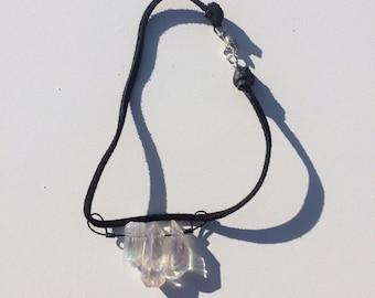 Wire Wrapped Crystal Quartz Choker