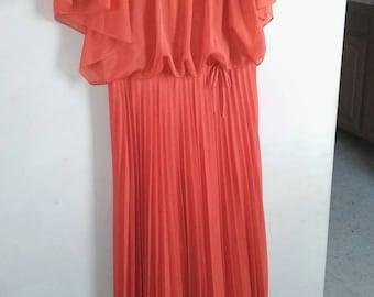 Beautiful burnt orange evening dress