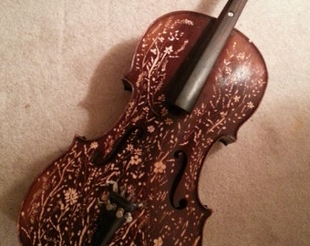 hand-carved cello