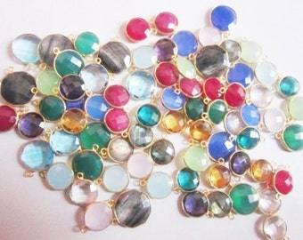 Gold Plated 925 Sterling Silver Fancy Gemstone Connectors @ USD 3.25
