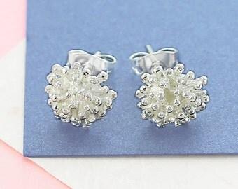 Silver Earrings - Stud Earrings - Silver Studs - Flower Earrings - 925 Earrings - Cute Earrings - Nature Earrings - Flower Stud Earrings