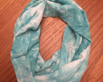 Abstract Tribal  Infinity Scarf in Shades of Turquoise