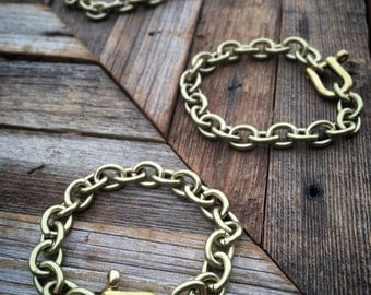 Solid Brass Chain Bracelet