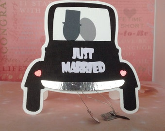 """Wedding greeting card """"Just Married"""""""