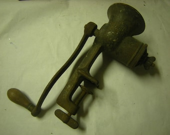 vintage grinder-nut grinder- for display only-kitchen decor-rustic-primitive-cabin decor-Universal-