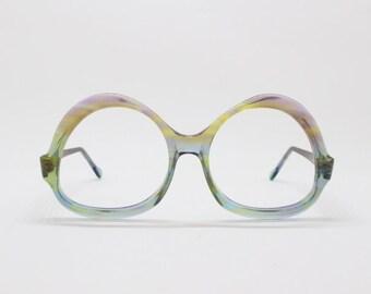 Linda Farrow glasses, designer eyewear, 70s dead stock frame, unworn women's eyeglasses