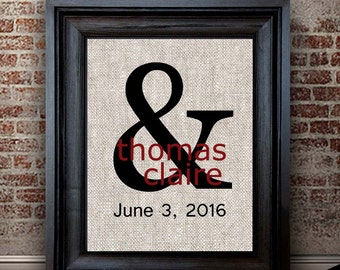 2 Year Anniversary Gifts | Cotton Anniversary Gift | Ampersand Print | Newly Married Gift | Cotton Gift Ideas | Wedding Gift Ideas