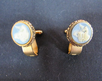Cuff Links Dante Museum Masterpiece Collection Vintage 1960's Designer Dante Incolay Cameo Men's Gift Cuff Link Set
