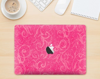 The Subtle Pink Floral Laced Skin Kit for the Apple MacBook Air - Pro or Pro with Retina Display (Choose Version)