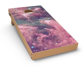 Crimson Nebula - Cornhole Board Skin Kit