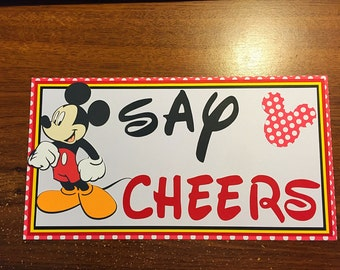 Mickey Mouse birthday party sign. Sign size- 6x10.5 . Mickey Mouse clubhouse.