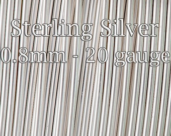 Sterling Silver Wire Half Hard 20gauge 0.8mm, solid silver wire round 3 5 10 20Feet, Quality sterling Silver wire Made Italy, 30%discount